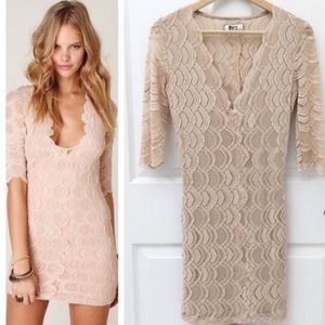 Nightcap Deep V Victorian Lace Dress